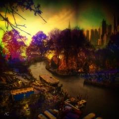 AutumnColorsInCentralParkByTheLake_Romanika_channelsMixed_RiverTtroughHorizon