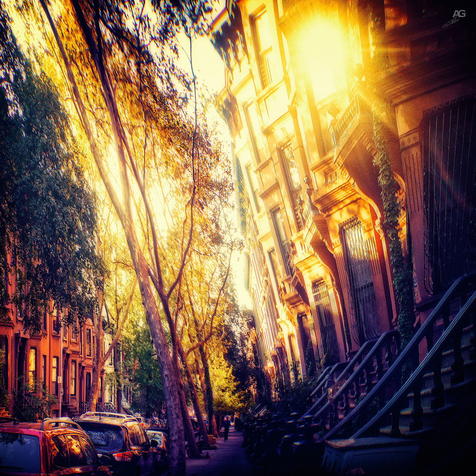 BrooklyNStrretInASunsetLight_warped_1600