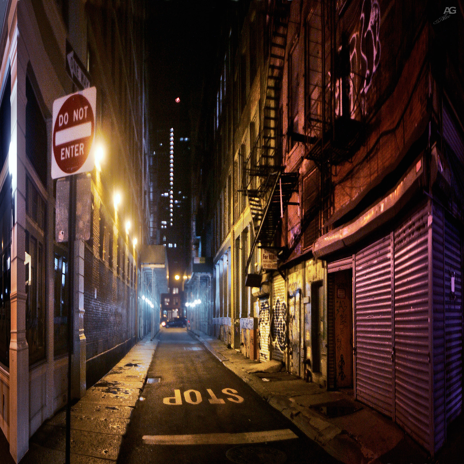 NarrowStreetByCanalStreetNight_variably-squished