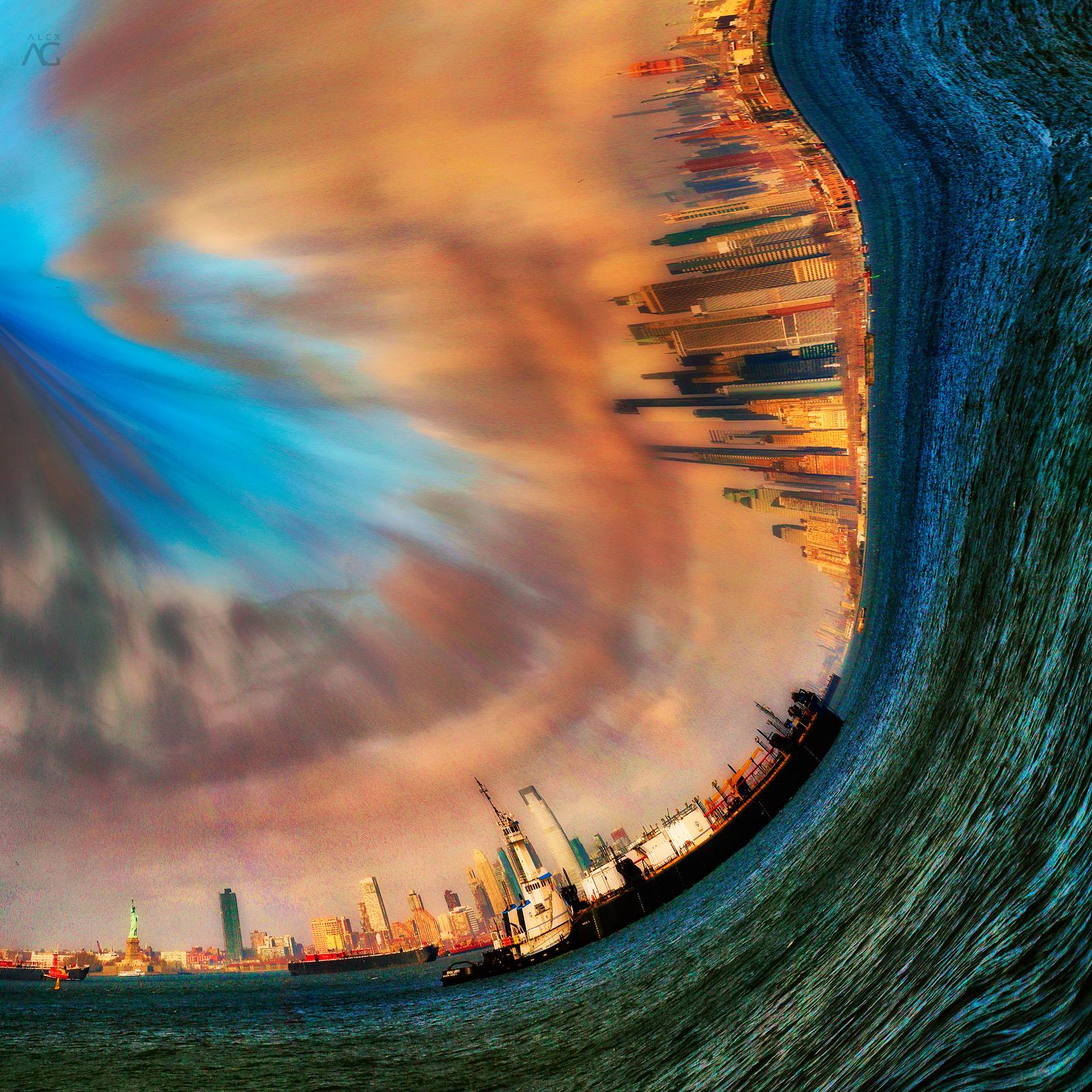 CloudsOverHudsonFromRedHookManhattanDowntownAndShip_curved_1600