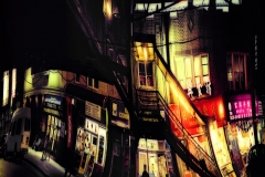 StairsToTheTrainStationByCHinese-AwningsSunsetColorful_unfoldedWarped_1600