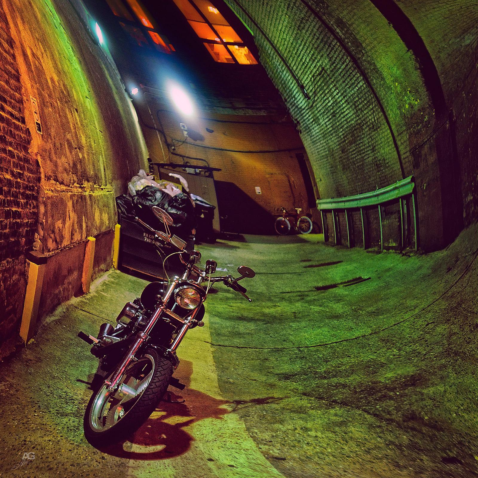 BikeInAGreenYardNight_warped_1600