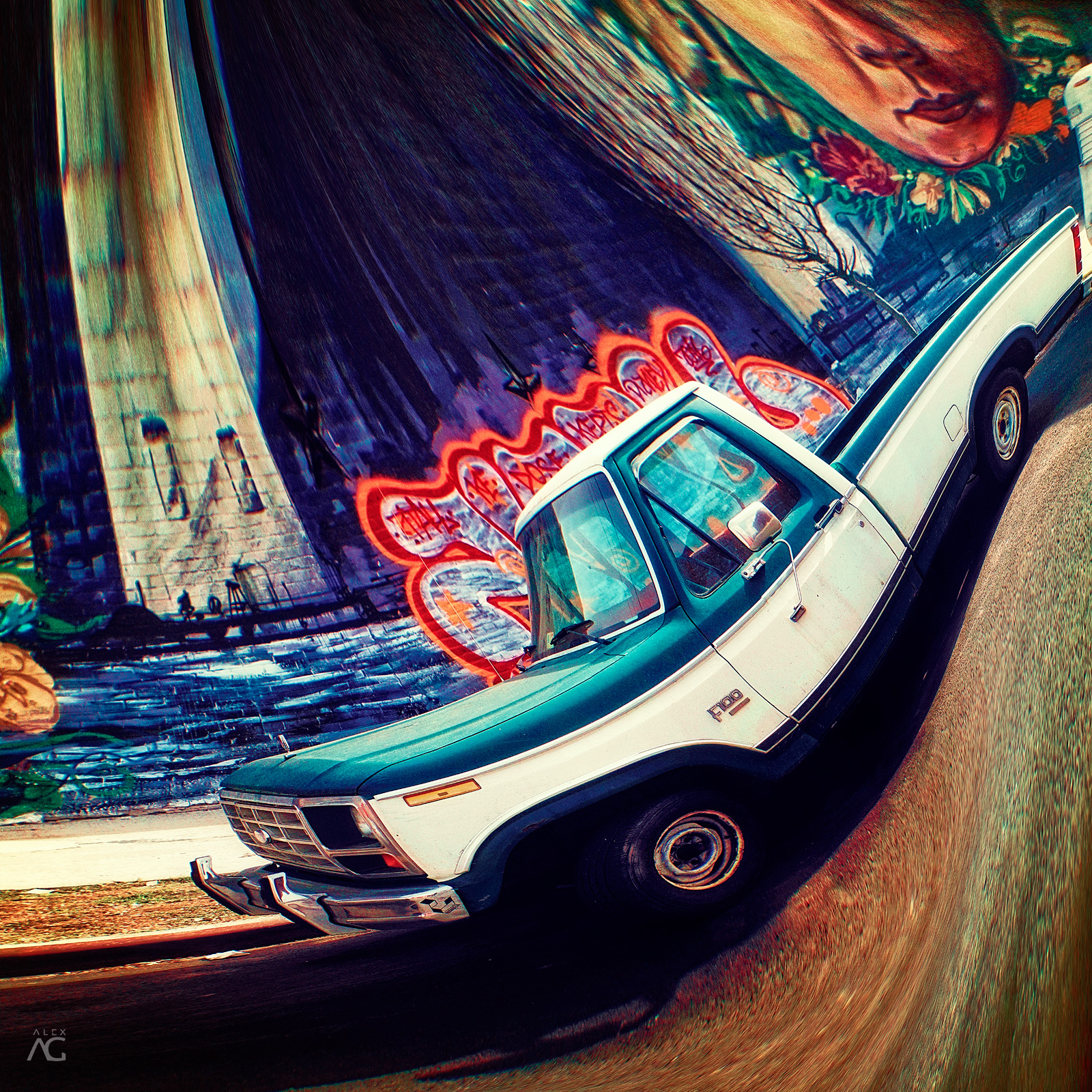 FordF100From70sAndGraffitiOnABackground_RedHook_Romanika_warped_1600