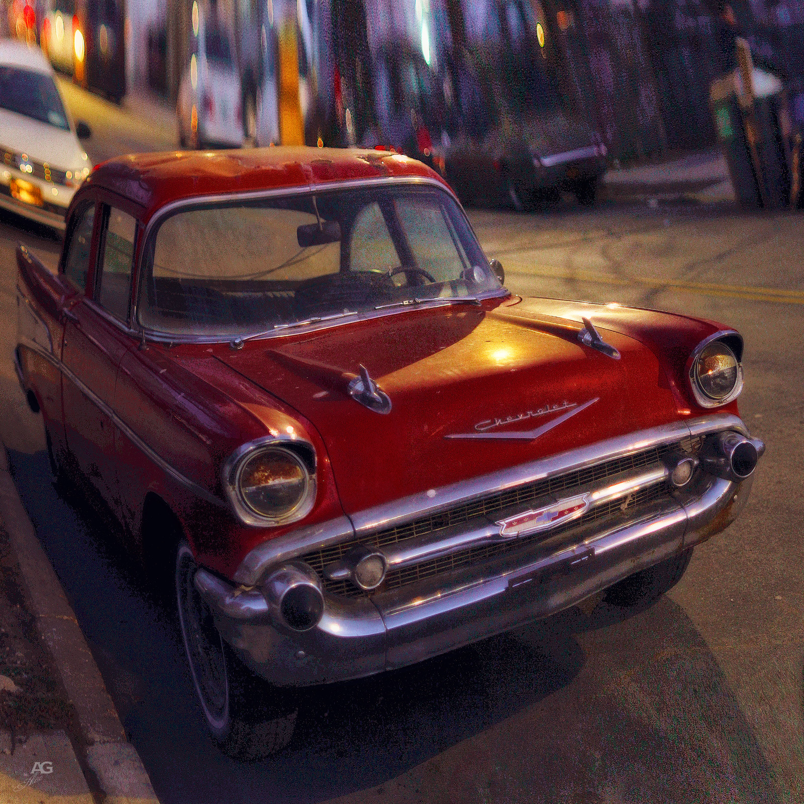 VIntageRedChevroletOnStreetsOfBrooklynFront_warped_1600